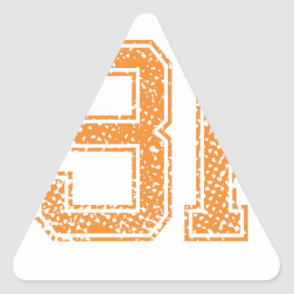 Orange Sports Jerzee Number 31.png Triangle Sticker