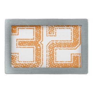 Orange Sports Jerzee Number 32.png Rectangular Belt Buckle