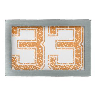 Orange Sports Jerzee Number 33.png Belt Buckle