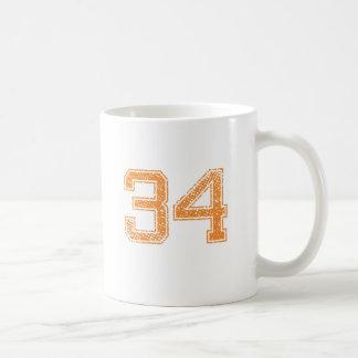 Orange Sports Jerzee Number 34.png Coffee Mug