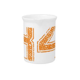 Orange Sports Jerzee Number 34.png Drink Pitcher