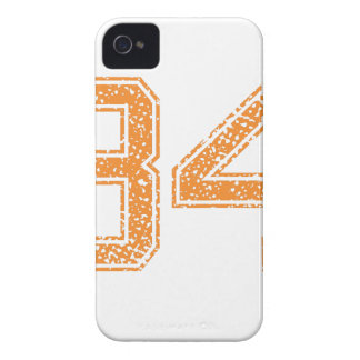 Orange Sports Jerzee Number 34.png iPhone 4 Covers