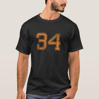 Orange Sports Jerzee Number 34.png T-Shirt