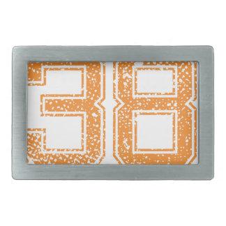 Orange Sports Jerzee Number 38.png Belt Buckle