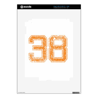 Orange Sports Jerzee Number 38.png Decal For iPad 2