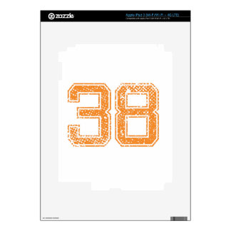 Orange Sports Jerzee Number 38.png iPad 3 Decal
