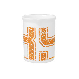 Orange Sports Jerzee Number 39.png Beverage Pitcher