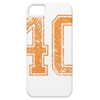 Orange Sports Jerzee Number 40.png iPhone SE/5/5s Case