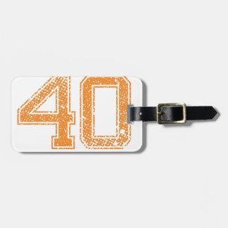 Orange Sports Jerzee Number 40.png Luggage Tag