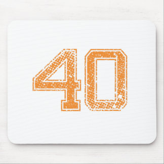 Orange Sports Jerzee Number 40.png Mouse Pad
