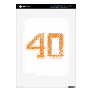 Orange Sports Jerzee Number 40.png iPad 3 Decals