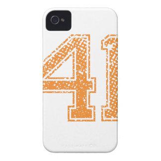 Orange Sports Jerzee Number 41.png Case-Mate iPhone 4 Case