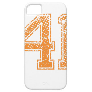 Orange Sports Jerzee Number 41.png iPhone SE/5/5s Case