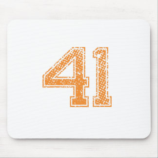 Orange Sports Jerzee Number 41.png Mouse Pad
