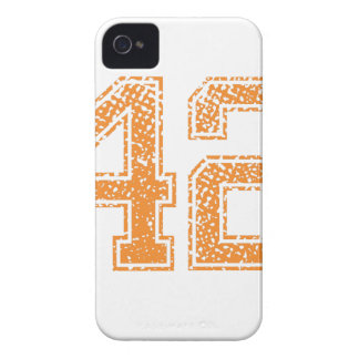 Orange Sports Jerzee Number 42.png iPhone 4 Covers