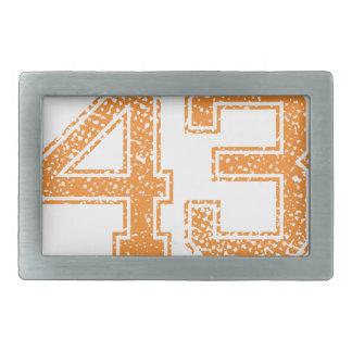 Orange Sports Jerzee Number 43.png Belt Buckle