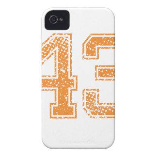 Orange Sports Jerzee Number 43.png Case-Mate iPhone 4 Cases