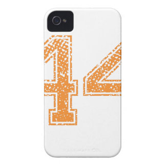 Orange Sports Jerzee Number 44.png Case-Mate iPhone 4 Cases