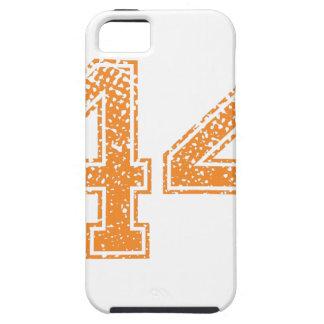 Orange Sports Jerzee Number 44.png iPhone SE/5/5s Case