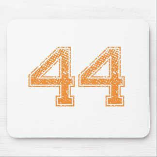 Orange Sports Jerzee Number 44.png Mouse Pad