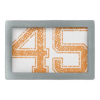 Orange Sports Jerzee Number 45.png Belt Buckle