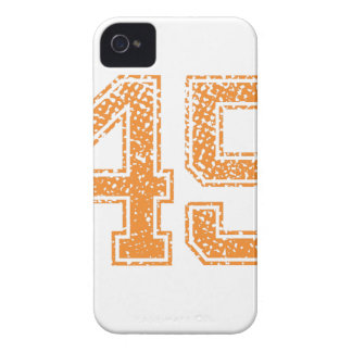 Orange Sports Jerzee Number 45.png Case-Mate iPhone 4 Cases