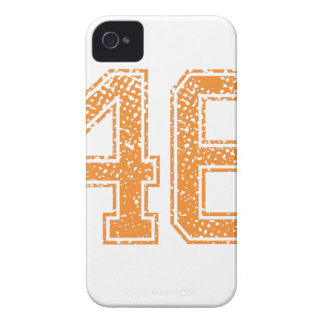 Orange Sports Jerzee Number 46.png iPhone 4 Covers