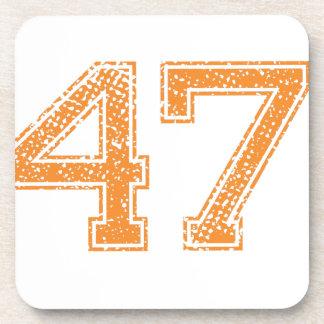 Orange Sports Jerzee Number 47.png Coaster