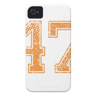 Orange Sports Jerzee Number 47.png iPhone 4 Case