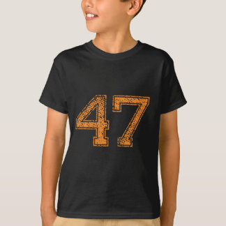 Orange Sports Jerzee Number 47.png T-Shirt