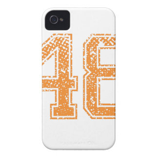 Orange Sports Jerzee Number 48.png iPhone 4 Case-Mate Cases