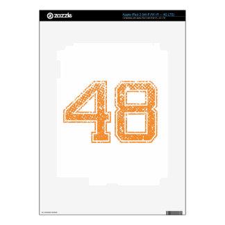Orange Sports Jerzee Number 48.png Skins For iPad 3