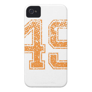 Orange Sports Jerzee Number 49.png iPhone 4 Case-Mate Cases