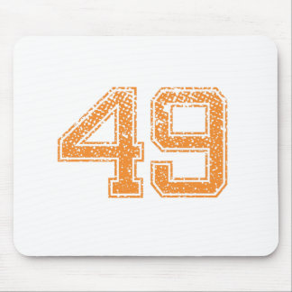 Orange Sports Jerzee Number 49.png Mouse Pad
