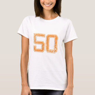 Orange Sports Jerzee Number 50.png T-Shirt