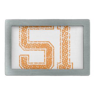 Orange Sports Jerzee Number 51.png Belt Buckle