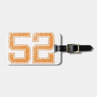 Orange Sports Jerzee Number 52.png Luggage Tag