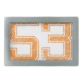 Orange Sports Jerzee Number 53.png Belt Buckle