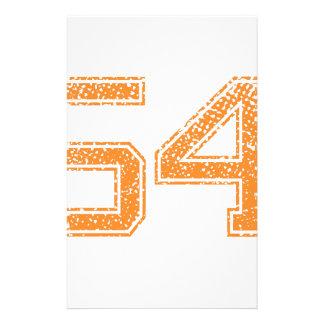 Orange Sports Jerzee Number 54.png Stationery
