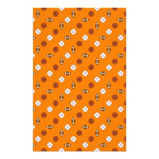 Orange Sports Stationery Paper