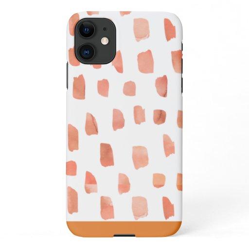 Orange Spot iPhone 11 Case