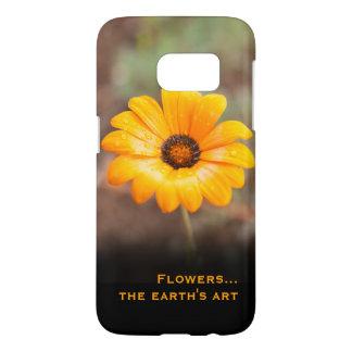 Orange Spring Flash African Daisy Close Up Photo Samsung Galaxy S7 Case