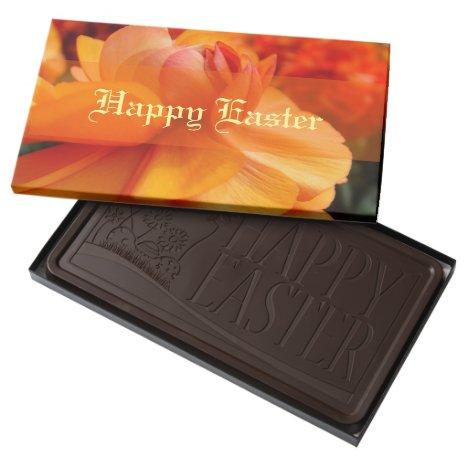 Orange Spring Flower Easter Gift Chocolate Boxed
