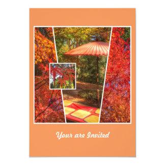 Orange Square Photo Fall Template Autumn Leaves