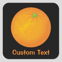 Orange Square Sticker