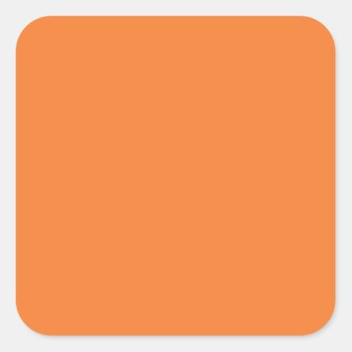 Orange Square Stickers