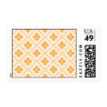 Orange square tiles with flowers inside stamp