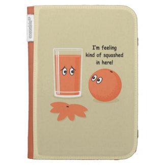 Orange Squash Kindle Folio Cases
