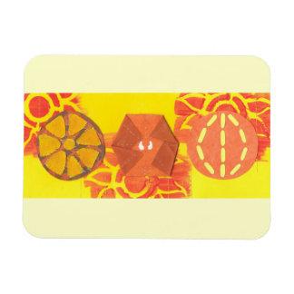Orange Squash Dance Flexi Magnet