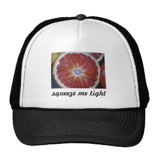 orange, squeeze me tight trucker hat